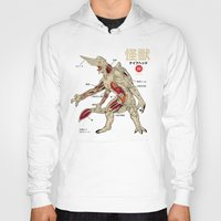 anatomy Hoodies featuring Kaiju Anatomy by MeleeNinja