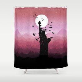 Liberty Enlightening the World Shower Curtain