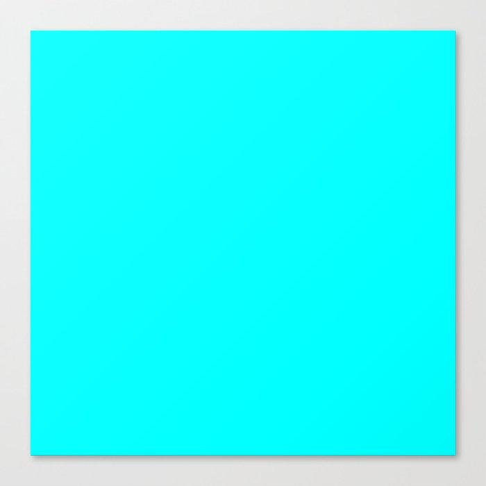 Neon Aqua Blue Bright Electric Fluorescent Color Canvas ...
