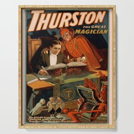 Vintage poster - Thurston the Magician Serving Tray