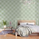 Art Deco Jagged Edge Pattern Sage Green by tonymagner