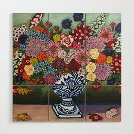Amsterdam Flowers Wood Wall Art