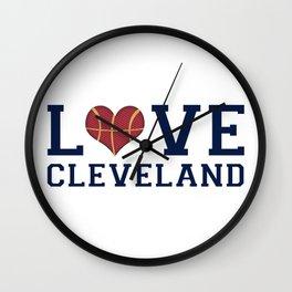 Love Cavs Wall Clock