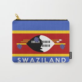 Swaziland country flag name text Carry-All Pouch