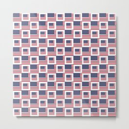 flag of the usa -with square Metal Print