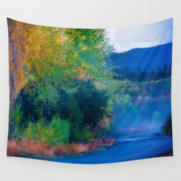 Port Angeles offroad Watercolor Wall Tapestry