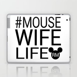 #MOUSEWIFELIFE BLACK Laptop & iPad Skin