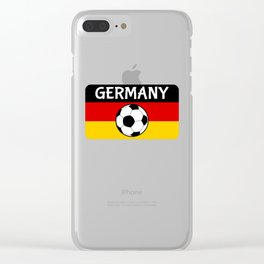 German Flag Football Clear iPhone Case