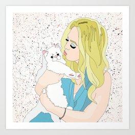Tiffany & Romeow the Cat Art Print