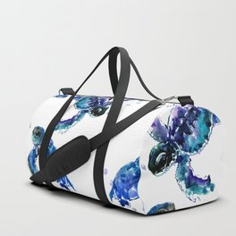 Three Sea Turtles, Marine Blue Aquatic design Duffle Bag