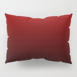 Red and Black Gradient Pillow Sham