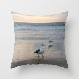 Seymour, King of The Seagulls Throw Pillow