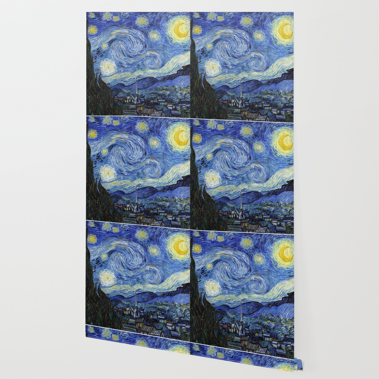 Starry Night By Vincent Van Gogh Wallpaper By Artgallery Society6
