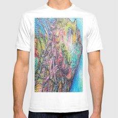by the sea by the sea by the beautifull  sea MEDIUM Mens Fitted Tee White
