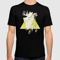The White Fawn Mens Fitted Tee Black MEDIUM