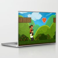 gaming Laptop & iPad Skins featuring Co-Op Gaming by CazArts