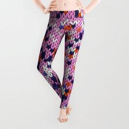Knitted multicolor pattern 5 Leggings