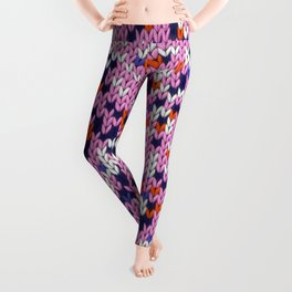 Knitted multicolor pattern 5 Leggings