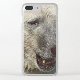 Polar Bear Face Closeup | Animal Photography | Wildlife Art Clear iPhone Case