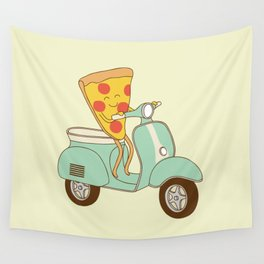 pizza delivery Wall Tapestry