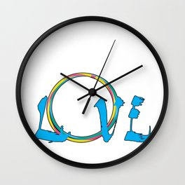 Hula Hoop Hooping Love  Dance  Exercise Twirl Gift Wall Clock