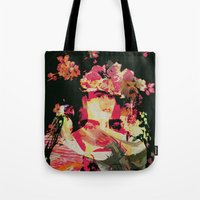 frida Tote Bags featuring Frida by Fernando Vieira