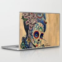 fitzgerald Laptop & iPad Skins featuring Marie de los Muertos by Cathy FitzGerald