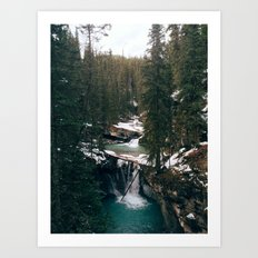 Johnston Canyon Falls Art Print