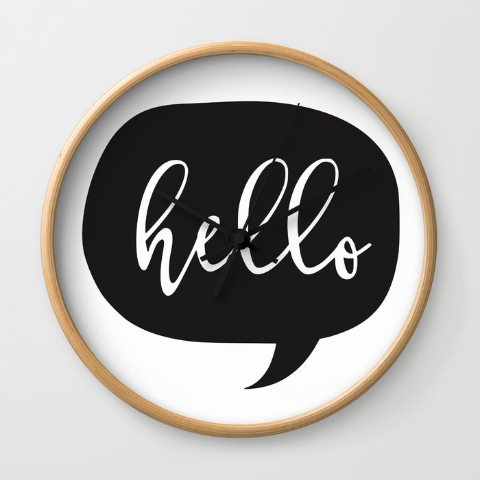 Hello, is it me you're looking for ? Wall Clock