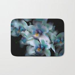 Teal Orchid Bath Mat