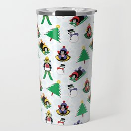 Christmas penguin skiing SB17 Travel Mug