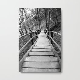 wooden staircase Metal Print
