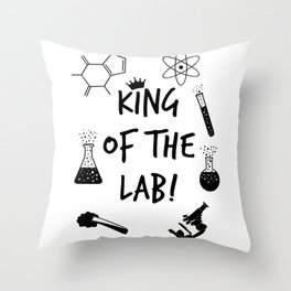 King of The Lab 2 Throw Pillow
