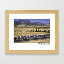 USA Pro Cycling Challenge Enters Boulder Colorado Framed Art Print