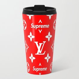 LV supreme red Travel Mug