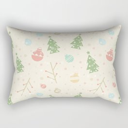 Simple christmas vector pattern Rectangular Pillow