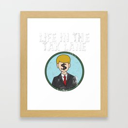 Awesome & Trendy Tshirt Designs Accountant Tax Lave Framed Art Print