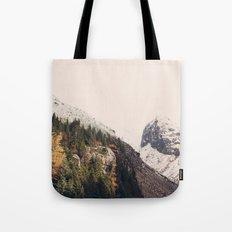 Winter Mountain Morning Tote Bag