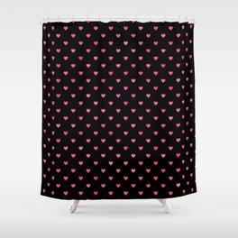 Pink Pop Petit Hearts Pattern Shower Curtain