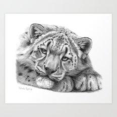 Snow Leopard Cub G105 Art Print