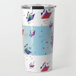 Flying Tangrams Travel Mug