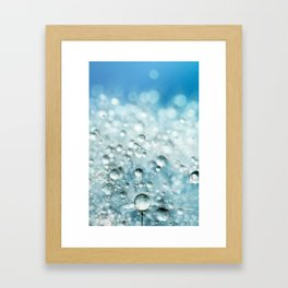 Powder Blue Drops Framed Art Print