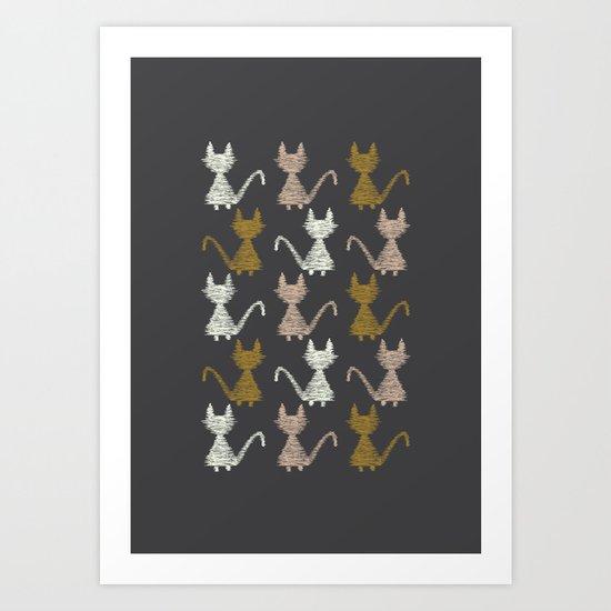 Cat pattern 2 Art Print