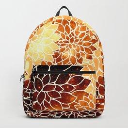 Space Dahlias Golden Bronze Backpack