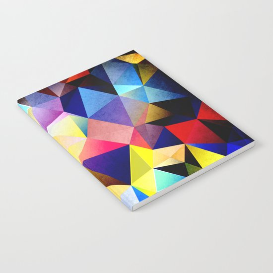 Abstract Triangles And Texture Notebook