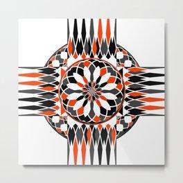 Geometric celtic cross Metal Print