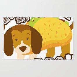 Did Someone Say Tacos Beagle Dog Funny De Mayo Gift Rug