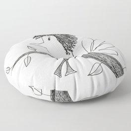 Sitting On A Tree Floor Pillow