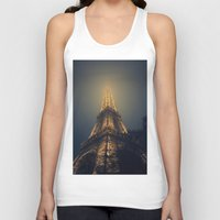 eiffel tower Tank Tops featuring Eiffel Tower  by cchelle135