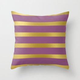 Baesic Gold & Purple Texture Shine Throw Pillow
